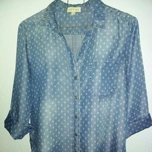 New Anthropologie Cloth & Stone M Chambray Shirt